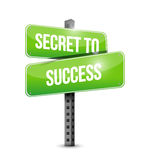 secret to success street sign concept Royalty Free Stock Photos
