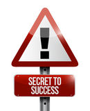 Secret to success warning sign concept Royalty Free Stock Image