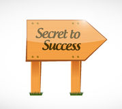 Secret to success wood sign concept Stock Images