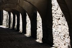 Secret tunnel stock images