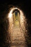 Secret tunnel in Bran castle, near Brasov Stock Photo