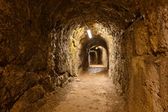 Secret tunnel in Castle Kufstein - Austria Stock Images