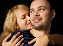 Secret two. Very happy man and woman Stock Image