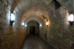 Secret underground bunker. Royalty Free Stock Photos