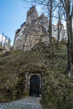 Secret underground entry into Bran Castle in Brasov County, Roma Royalty Free Stock Image
