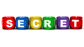Secret. Word on white, concept of secrecy and confidentiality Stock Image
