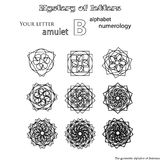 Secret of words, runes astrology personal amulet Stock Photos