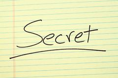 Secret On A Yellow Legal Pad Royalty Free Stock Photos