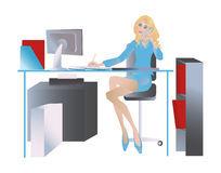 Secretaresse vector illustratie