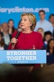 Secretaresse Clinton bij de Politieke Verzameling van 2016 Royalty-vrije Stock Foto's