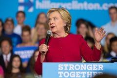Secretaresse Clinton bij Politieke de Campagneverzameling van 2016 Stock Foto