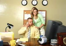 Secretaresse en BedrijfsMens Royalty-vrije Stock Afbeelding