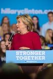 Secretaresse Hillary Clinton bij de Campagneverzameling van 2016 Stock Afbeeldingen