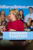 Secretaresse Hillary Clinton bij de Politieke Verzameling van 2016 Royalty-vrije Stock Afbeelding