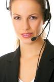 Secretaresse online stock fotografie