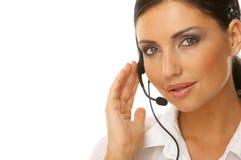 Secretaresse online Stock Afbeelding