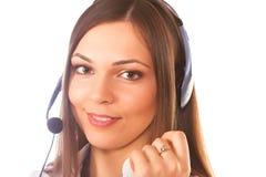 Secretaresse/telefoonexploitant royalty-vrije stock afbeelding