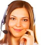 Secretaresse/telefoonexploitant stock fotografie
