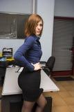 Secretaria atractiva Foto de archivo