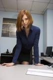 Secretaria atractiva foto de archivo libre de regalías