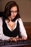 Secretaria atractiva. Imagen de archivo libre de regalías