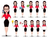 Secretaria atractiva Ayudante hermoso de la oficina libre illustration