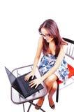 Secretaria de la computadora portátil Foto de archivo libre de regalías