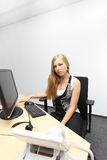 Secretaria en el trabajo Imagen de archivo libre de regalías