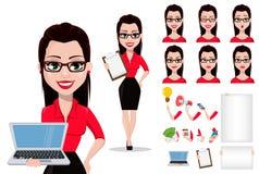 Secretaria en ropa del estilo de la oficina libre illustration