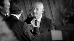 Secretaria General de Thorbjorn Jagland del Consejo de Europa durante visita oficial en Estrasburgo, Francia