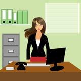 Secretaria o recepcionista de la oficina stock de ilustración