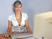 Secretarial work Royalty Free Stock Photo
