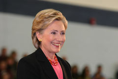 Secretario de Estado la sonrisa de Hillary Clinton Fotos de archivo