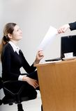 Secretary. Two businesswomen working at office Stock Images