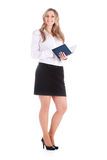 Secretary. The image of young secretary with note-book Stock Photography