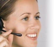 Secretary Answering a Call Stock Photos