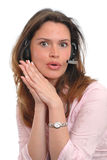 Secretary answering a call Royalty Free Stock Images