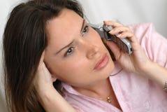 Secretary answering a call Stock Photo