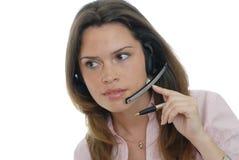Secretary answering a call Stock Photography