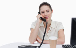 Secretary answering the phone Royalty Free Stock Photography