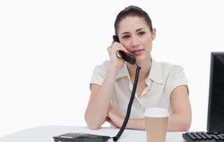 Secretary answering the phone Royalty Free Stock Photography