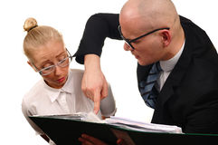 Secretary and boss Stock Photography