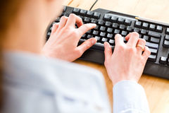 Secretary or Business Assistant at Work Stock Image