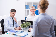 Secretary and businessmen Royalty Free Stock Images