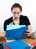 Secretary Checking Files Royalty Free Stock Photography