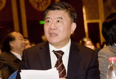 Secretary of Chinese  Ministry of Public Health Stock Photo
