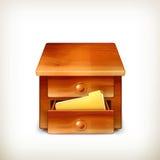 Secretary desk vector illustration