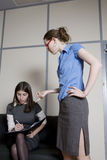 Secretary dictates to her colleague Royalty Free Stock Photo