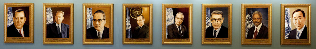 Secretary-Generals of the UN stock photography