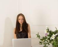 Secretary girl at the reception Stock Image